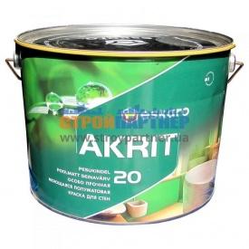 Краска Eskaro Akrit 20 моющая полуматовая для стен 9,5 л