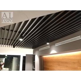 Реечный алюминиевый кубообразный потолок тм Бард