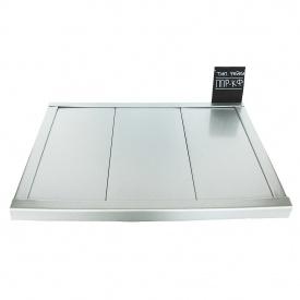 Рейкова стеля Бард ППР-100 срібло металік комплект 100x100 см