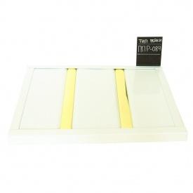 Реечный потолок Бард ППР-084 белый глянец-золото комплект 100x100 см