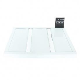 Реечный потолок Бард ППР-084 белый глянец-хром комплект 100x100 см