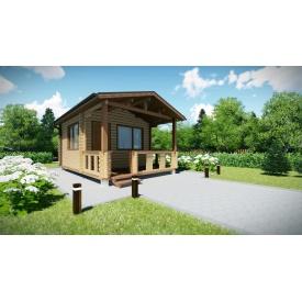 Будинок дерев'яний збірний з профільованого бруса 6х4 м