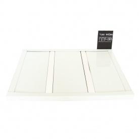 Рейкова стеля Бард ППР-083 білий глянець-хром комплект 200x200 см