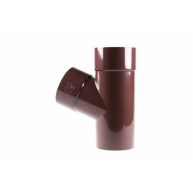 Тройник Profil 75/75/67 90 коричневый