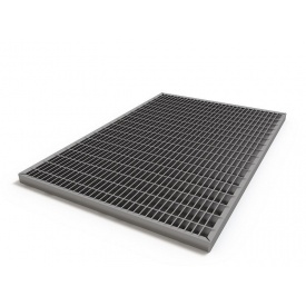 Решетка для поддона стальная 390х590 мм (ячейка 33х11 мм)