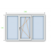 Металлопластиковое окно Steko R600 2100х1400 мм