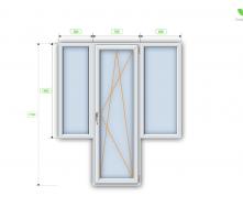 Балконний блок Steko R600 3200х1500 мм