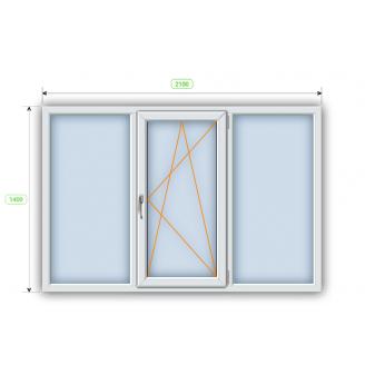 Металопластикове вікно Steko R600 2100х1400 мм