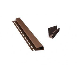 Профіль BRYZA Джей J 4000х45 мм коричневий/RAL 8017