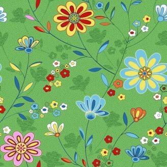 Ковровая дорожка Цветы 20 на войлочной основе на отрез 6 мм