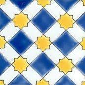 Плитка настенная Doremail Андалузская Almeria Bleu майолика 15х15х0,8 см (B00261T11014)