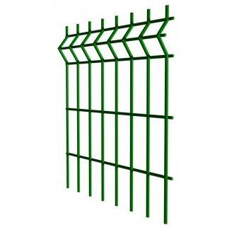 Панель ограждения Оригинал цинк с ПВХ покрытием 5,5 мм 200х50 мм 1,23х3 м зеленая