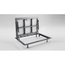 Напольный люк-невидимка на газовых амортизаторах Lukki Elite стальной