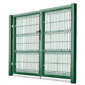 Ворота распашные с ППЛ покрытием 1,23х4 м зеленые