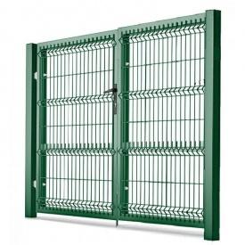 Ворота распашные с ППЛ покрытием 1,23х2,5 м зеленые