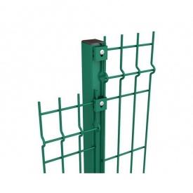 Столб для ограждений труба 58х38х1,5 мм с ППЛ покрытием 2,2 м зеленый