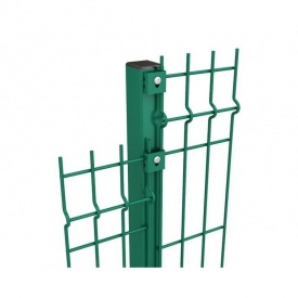 Столб для ограждений труба 58х38х1,5 мм с ПВХ покрытием 2,2 м зеленый