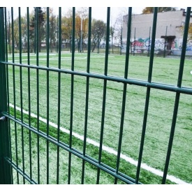 Панель ограждения ДУОС цинк с ППЛ покрытием 5х4х5 мм 200х50 мм 2,4х2,5 м зеленая