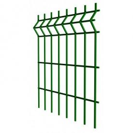Панель ограждения Стандарт цинк с ППЛ покрытием 4 мм 100х50 мм 2,4х2,5 м зеленая