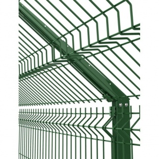 Г-образный кронштейн на столб 58х38 мм 530 мм зеленый