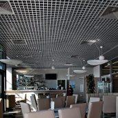 Потолок Грильято GL15 из алюминия металлик 120х120 см