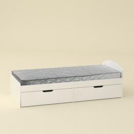 Кровать Компанит 90+2 дсп 944х650х2042 мм белая