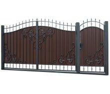 Кованые ворота и калитка ВД-19