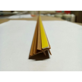 Профіль віконний примикання золотий дуб з манжетою 6 мм без сітки