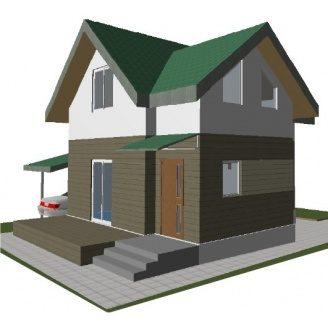 Строительство котеджного дома KD-Зазимье -75 м2 с внешней отделкой