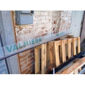 Профіль віконний примикання коричневий з манжетою і сіткою 6 мм прошитий