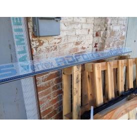 Профіль віконний примикання сірий графіт з манжетою і сіткою 6 мм