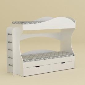 Двухярусная кровать Компанит Бриз 1670х2092х744 мм белая