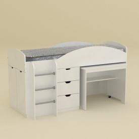 Детская кровать-комплект Компанит Универсал 1942х892х1060 мм белая