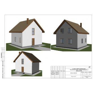 Строительство двухэтажного дома KD-92 м2 Русановка с внешней отделкой