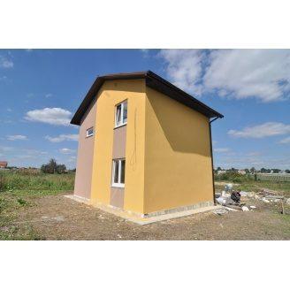 Строительство каркасного дома KD-80 м2 с внешней отделкой
