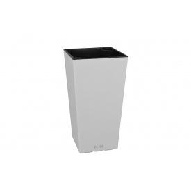 Вазон ELISE 30х30х58 см см белый глянцевый