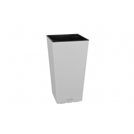 Вазон ELISE 30х30х58 см см белый матовый