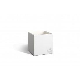 Вазон с системой автополива Flower Lover Cubico 14х14х14 белый глянцевый
