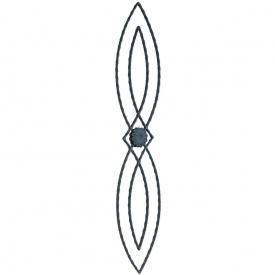 Кованая стойка прямая 950х190 мм (21.164)