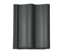 Цементно-піщана черепиця BRAAS Дабл S Cisar 420х330 мм графіт