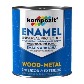 Емаль алкідна Kompozit ПФ-115 глянсова 0,9 кг коричневий
