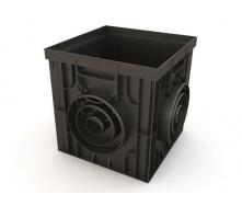 Дощоприймач Ecoteck пластиковий 314х314х300 мм чорний