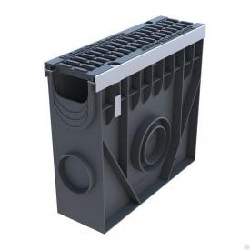 Пескоуловитель Ecoteck STANDART 100 153х560х417,5 мм металлик с пластиковой решеткой Волна
