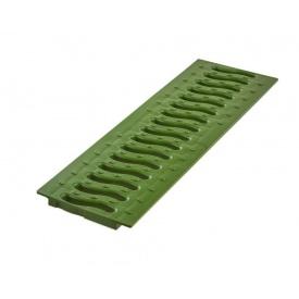 Решетка пластиковая Ecoteck Волна 136х500х17 мм зеленый папоротник