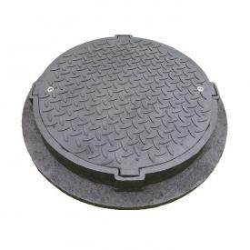 Люк пластиковий з замком С250 важкий 830х120 мм чорний