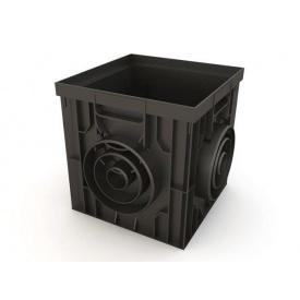 Дождеприемник Ecoteck пластиковый 314х314х300 мм черный