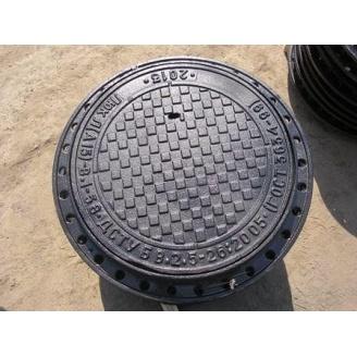Люк каналізаційний ПЛ ПР чавунний з замком легкий 760х72 мм