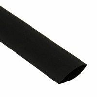 Трубка термоусадочная BlackChi усадка 3Х c клеем 75/25 мм 1 м черная