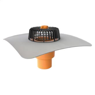 Вертикальна воронка з привареним фартухом з ПВХ-мембрани