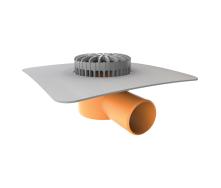 Террасная воронка горизонтальная с приваренным фартуком из ПВХ-мембраны